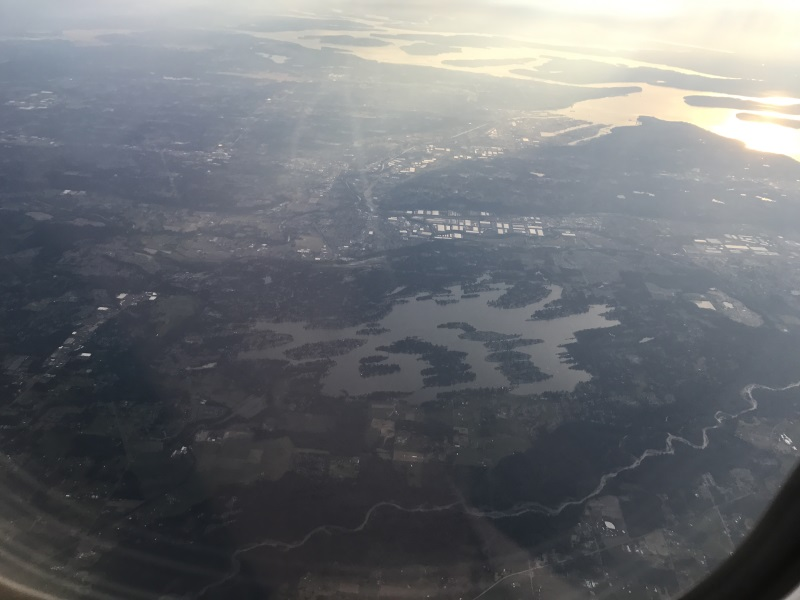 Lake picture from plane