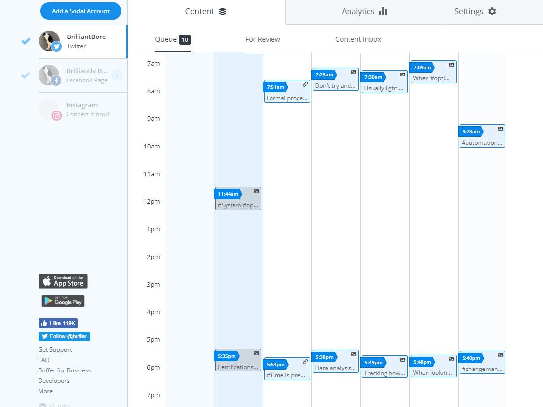 buffer.com scheduling tool